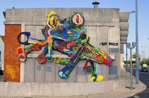 Скульптуры животных из мусора в новой коллекции работ Bordalo II