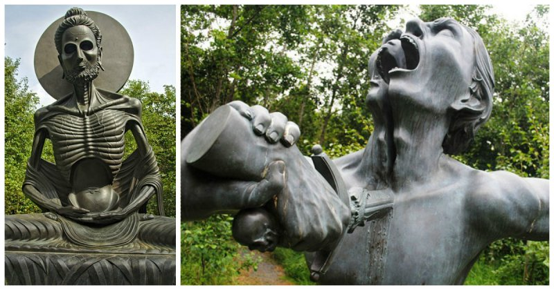 """Скульптуры из индийского """"парка ужасов"""" в Ирландии"""