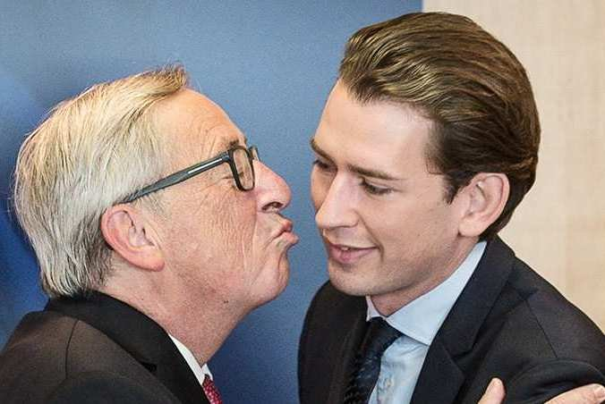 Старый педофил из ЕС и новый президент Австрии сошлись в клинче