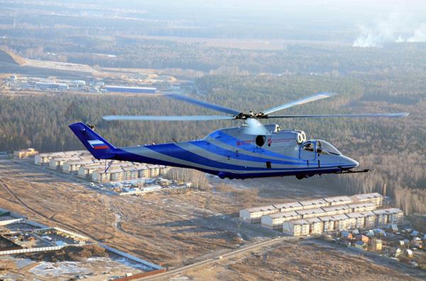 Разработанный в России вертолет на испытаниях превысил скорость в 400 км в час