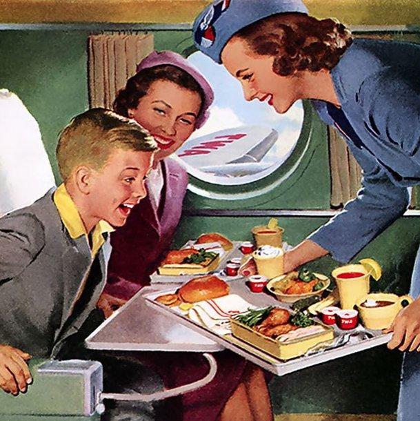 Вышивка на борту самолета