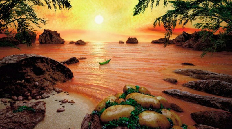 Фантастические пейзажи из еды. Бывает же такое