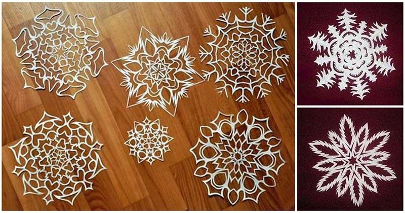 Ажурные бумажные снежинки — невесомый декор, который легко сделать