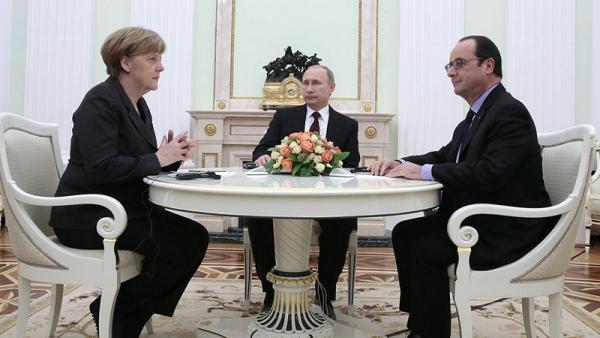 Стало известно, о чем договорились Путин, Меркель и Олланд по Донбассу