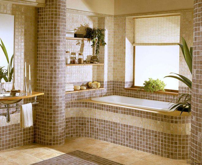 отделка ванной комнаты мозаикой