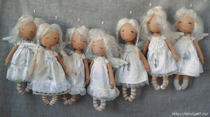 Куклы ангелы своими рукам