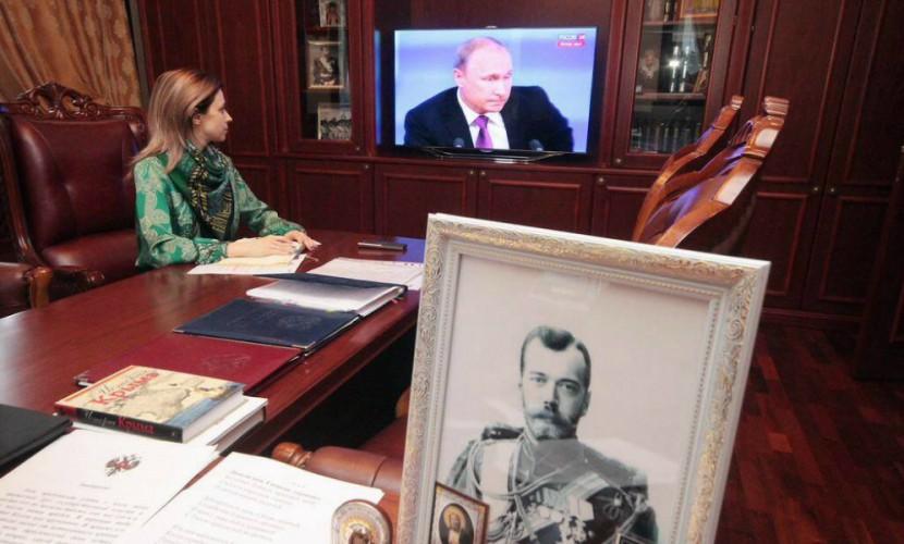 Путин, Николай II и семья: Поклонская рассказала о портретах самых важных людей в своём кабинете