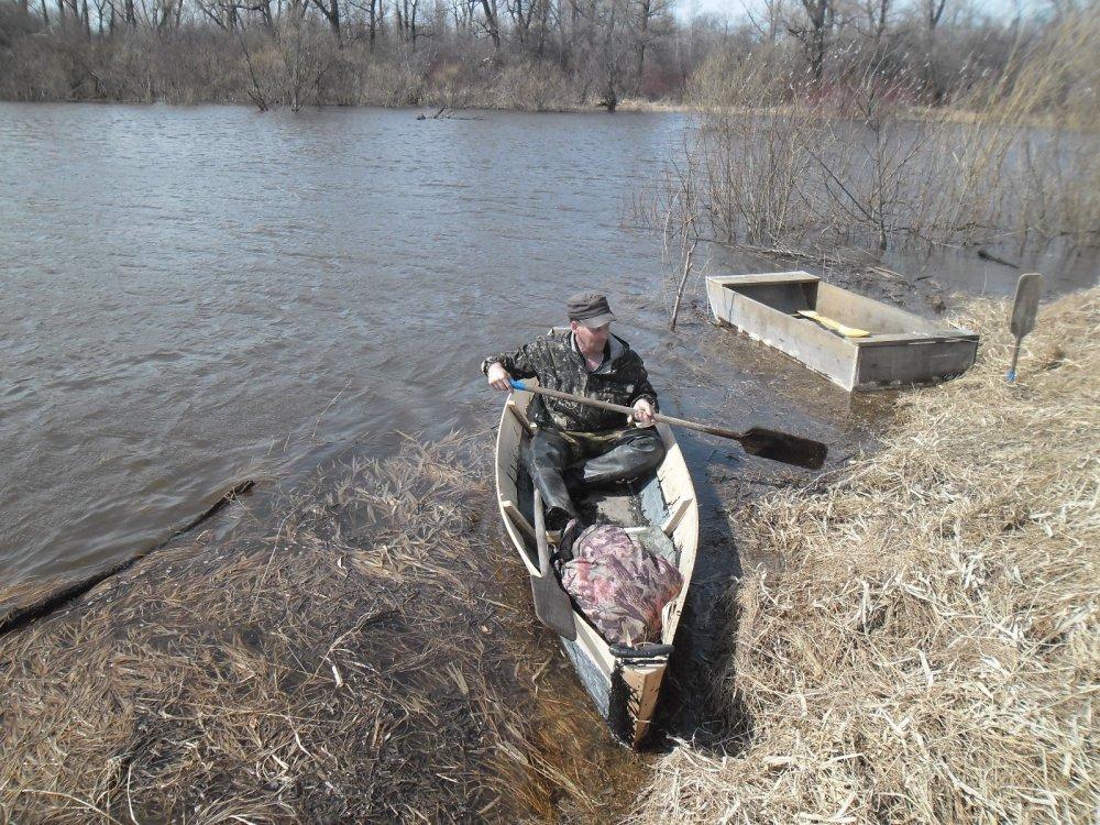 Деревянная лодка - испытание...
