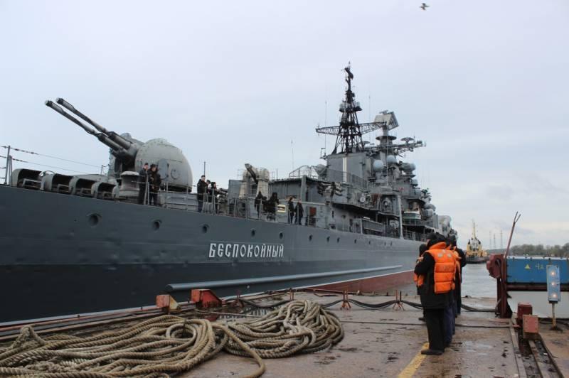 Эсминец «Беспокойный» станет экспонатом кронштадтского парка «Потриот»
