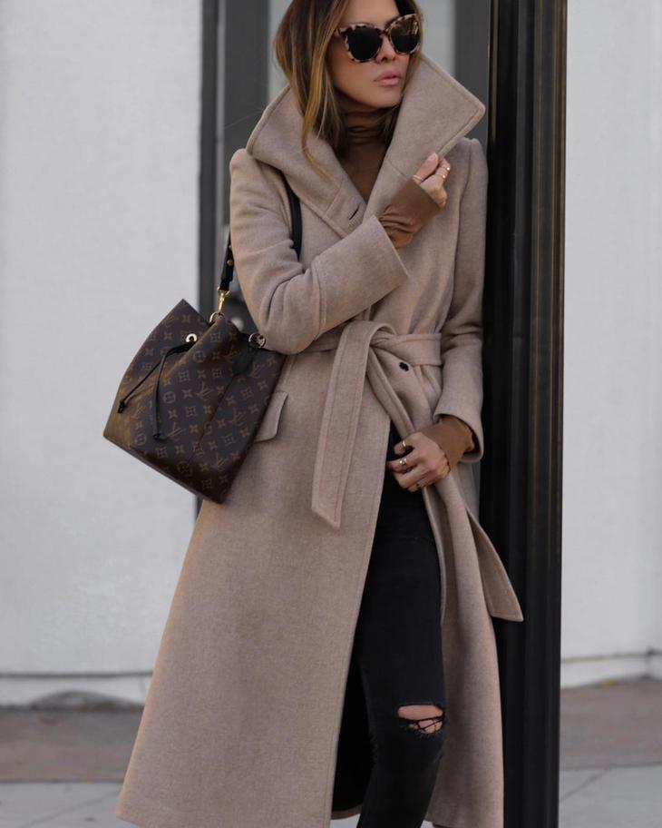 как красиво завязать пальто фото 4