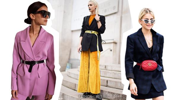 7 эффектных способов носить пиджак с поясом
