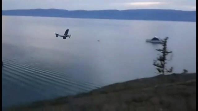 Момент падения самолета в Байкал