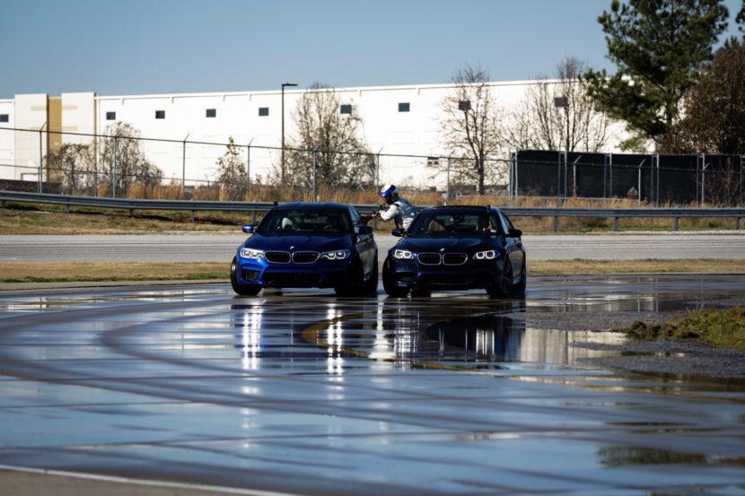 BMW показала дозаправку автомобиля в управляемом заносе