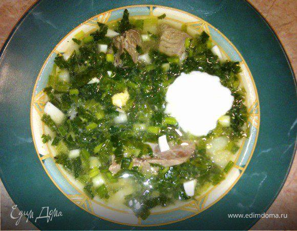 Зеленый борщ - рецепт из детства