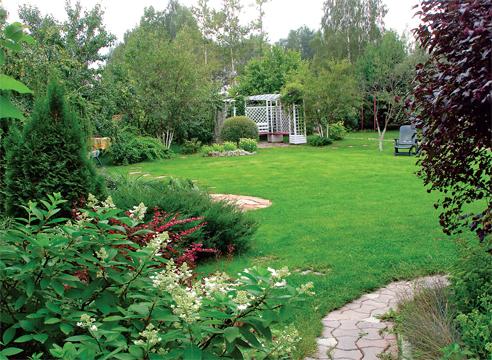 сад Людмилы Белых в Подмосковье