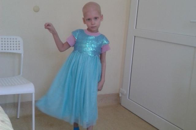 Вероника во время лечения в больнице.