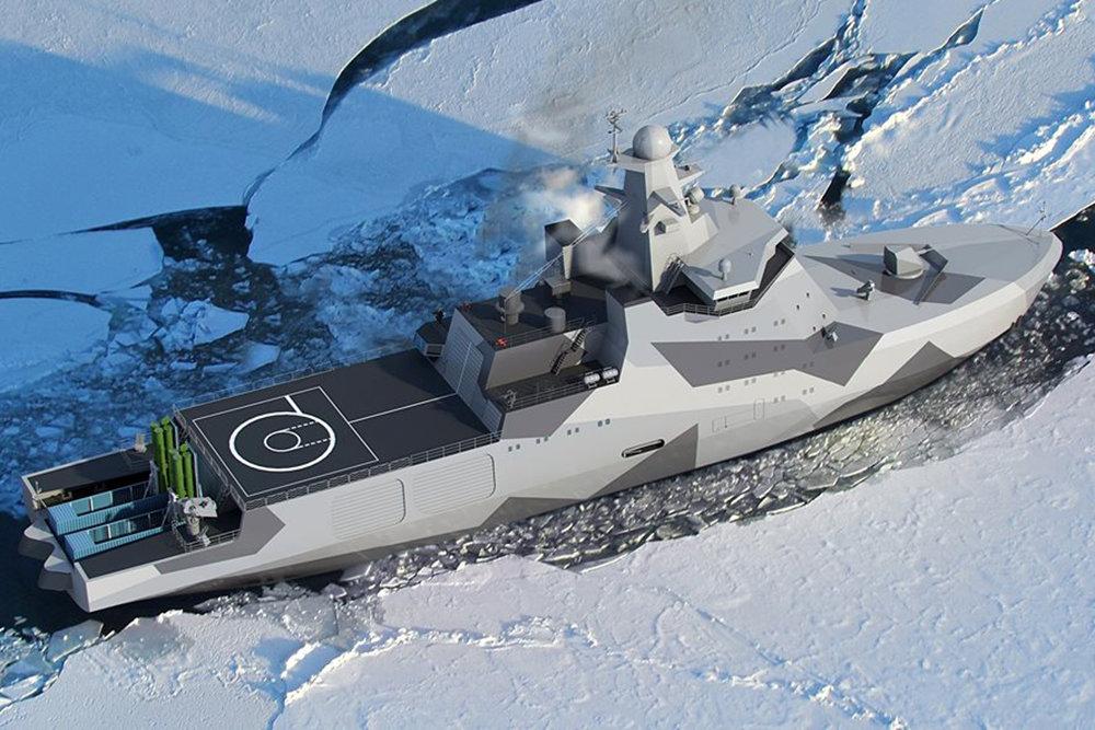 Новый боевой ледокол РФ впеч…