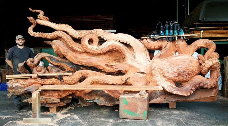 Объемная резьба по дереву: техника выполнения, фото