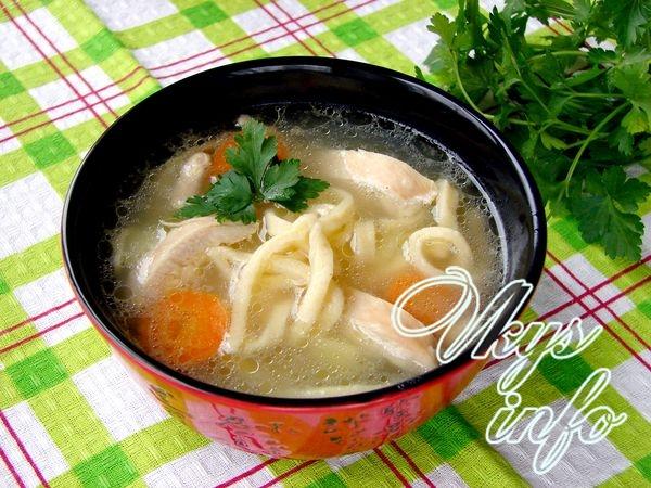 Суп из куриной грудки с лапшой