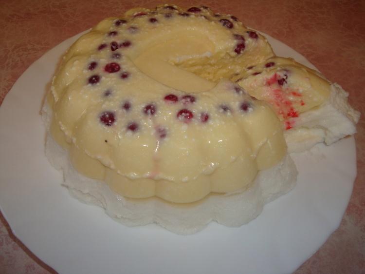 Торт - желе творожный без выпечки