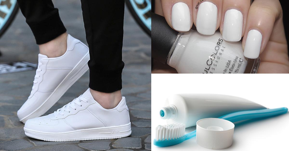 5 быстрых способов вернуть белым кроссовкам прежний вид