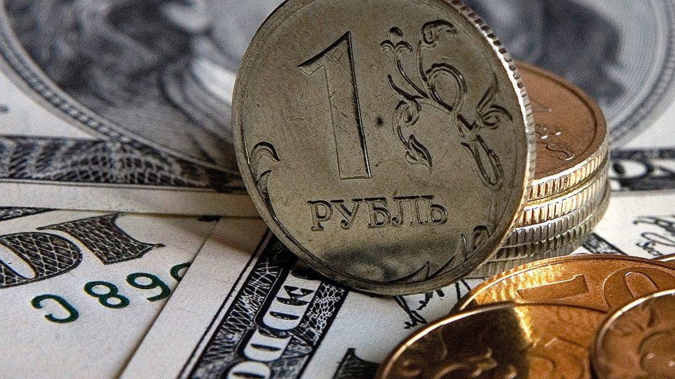 Рубль укрепляется по отношению к доллару и евро