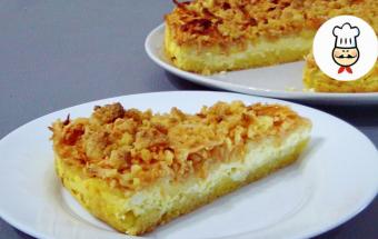 Самый вкусный пирог с творогом и яблоками