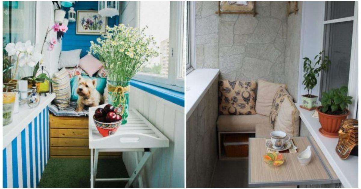 Маленький балкон – идеальное место для отдыха! 20 крутых фото-идей дизайна