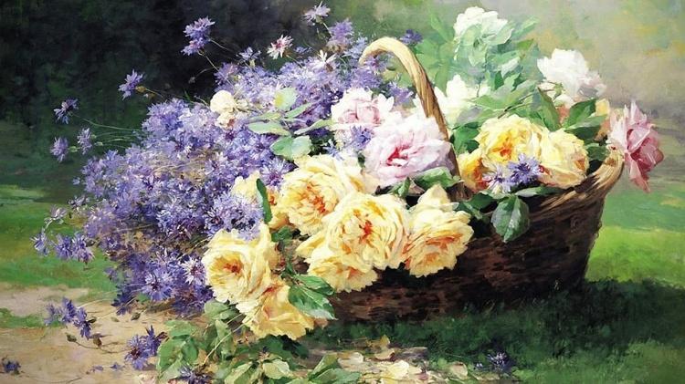 Художник Albert Tibule Furcy de Lavault (1847 – 1915). В моём саду