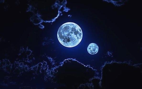 Место, куда упала вторая Луна