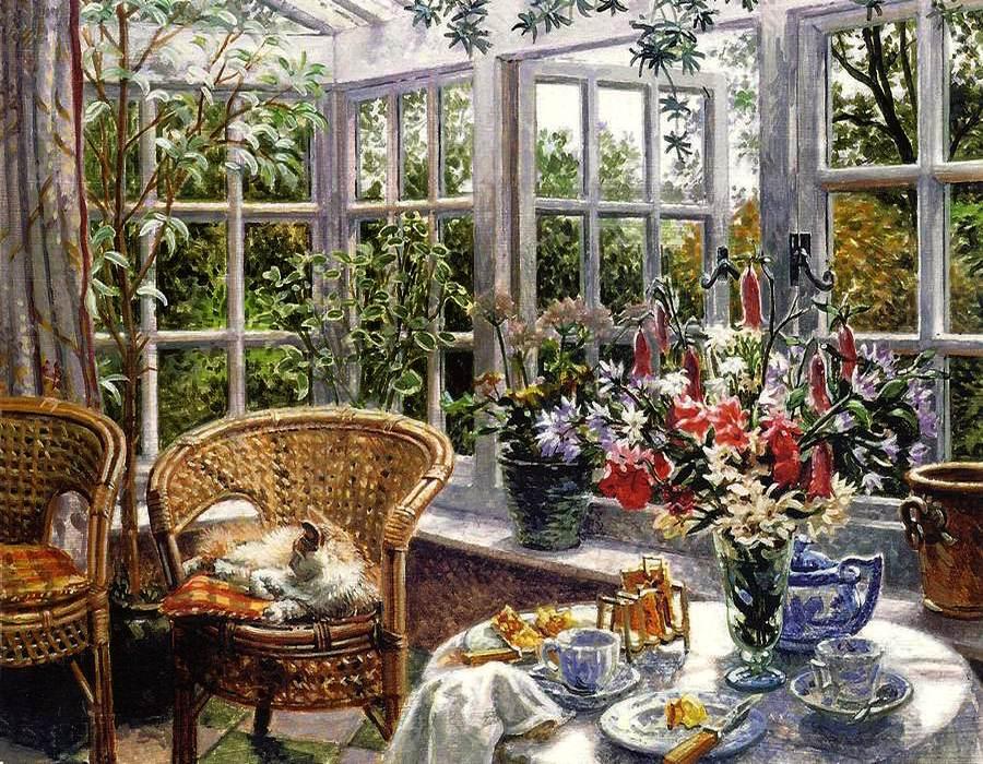 Современный английский художник Stephen Darbishire/Стивен Дарбишир. Распахни окно..