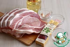 Свиная корейка с чесноком и пряностями фото