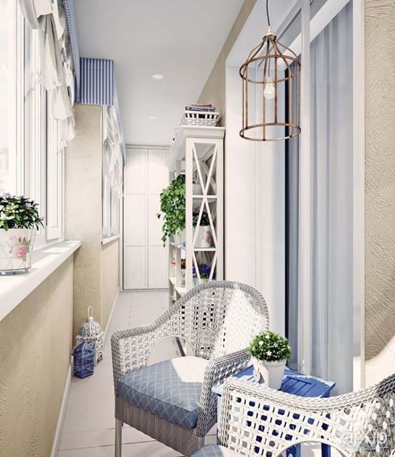 идеи дизайна маленьких балконов