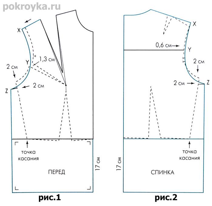 Как сделать лекало для блузки 265