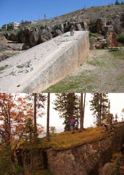 Кстати в Шории нашли огромный блок, по словам исследователей родной брат блока из Баальбека загадки, интересное, камни, мегалиты, факты, цивилизации