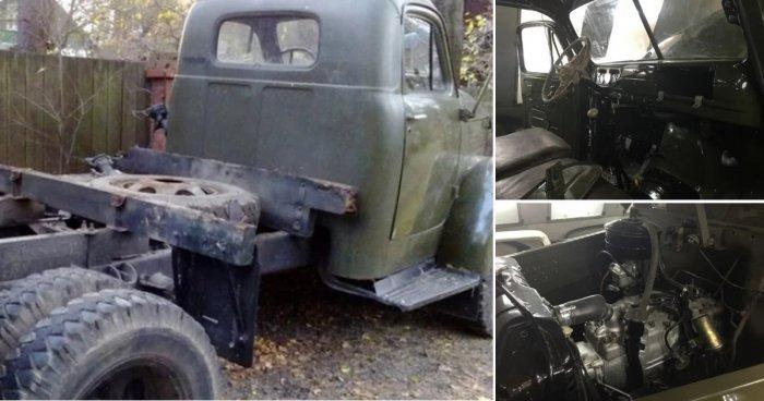 Сын выкупил и довел до ума старый армейский ГАЗ-51, чтобы исполнить мечту отца