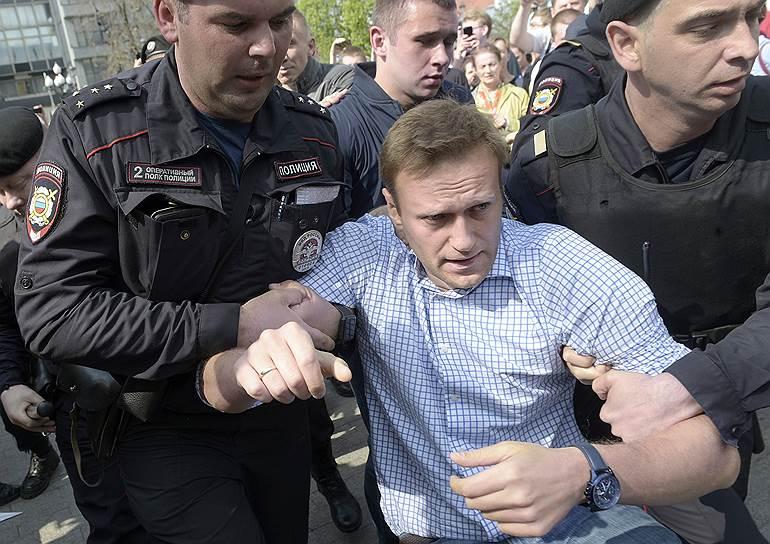 В Москве задержали Навального и его сторонников