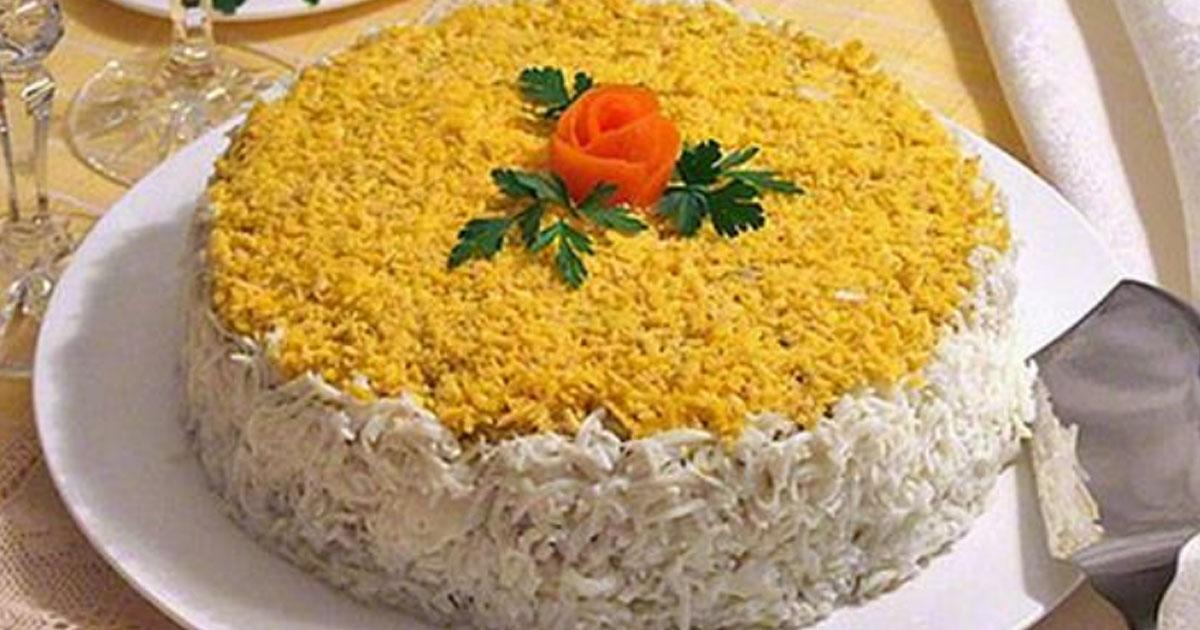 Сочный печеночный торт из ку…