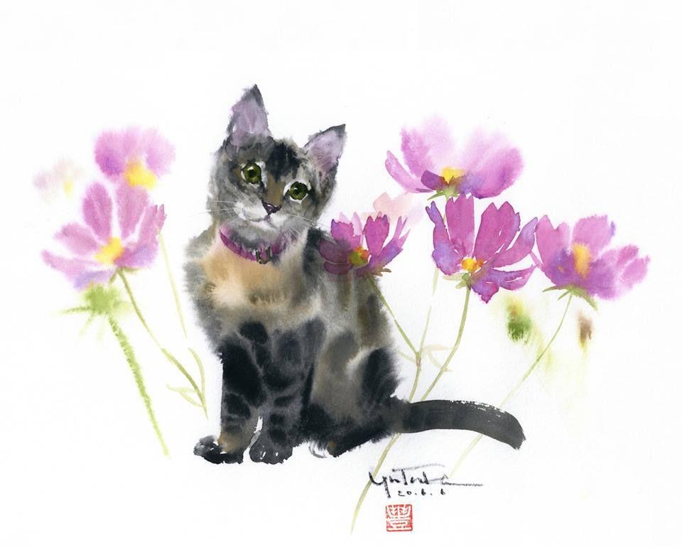 Акварельные и пушистые —  очаровательные коты Ютака Мураками, которых хочется погладить