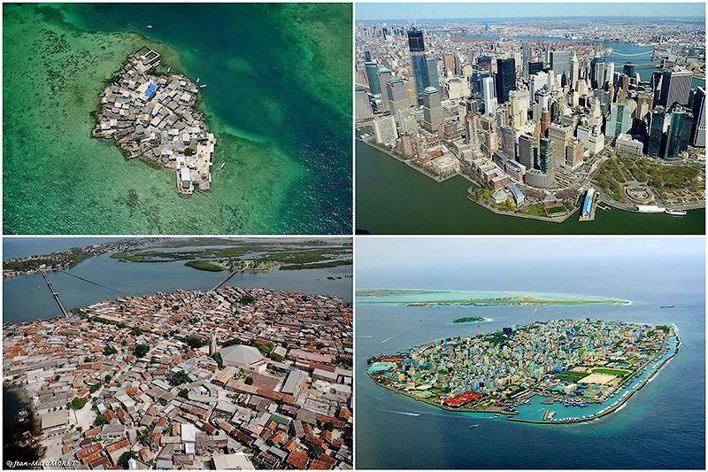 Острова с самой высокой плотностью населения в мире