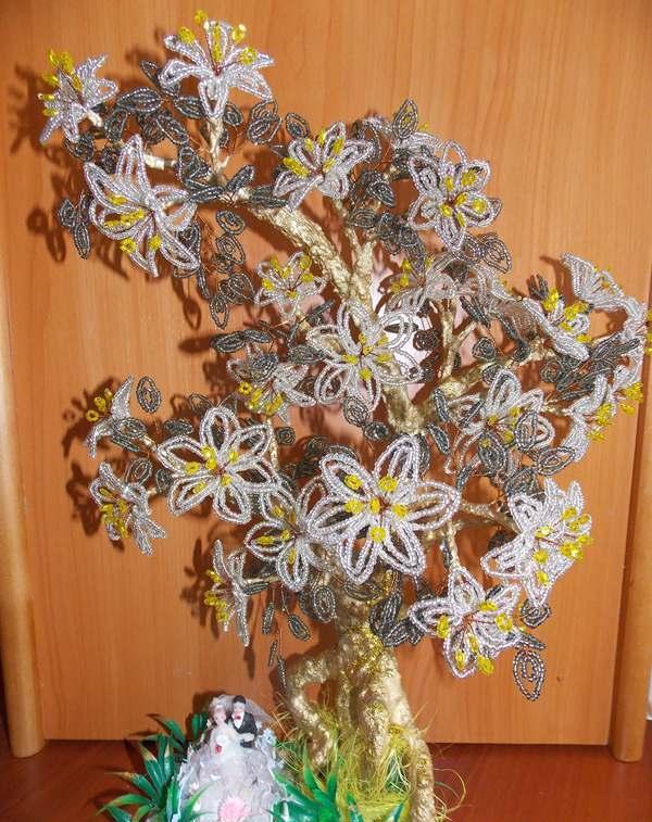"""Свадебный подарок — """"Дерево любви"""" из бисера (мастер-класс)"""