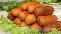 Фото приготовления рецепта: Домашние корн-доги (сосиски в тесте) - шаг №9