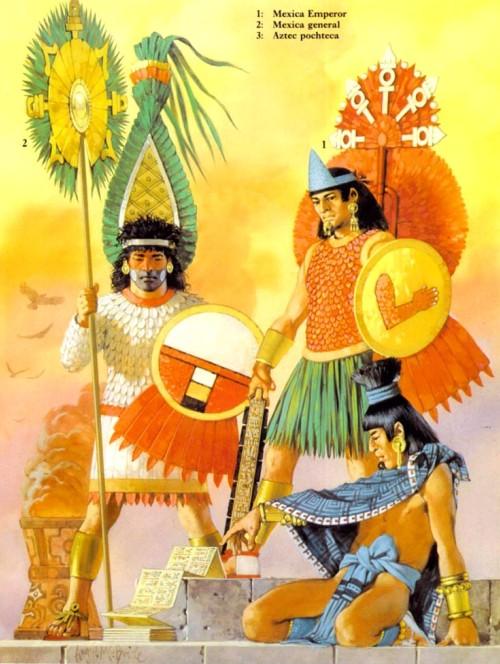 Армии ацтеков, микстеков и запотеков