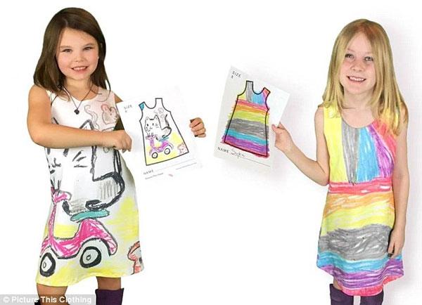 Умнее не придумать! Платья по детским рисункам -лучший способ поднять ребенку самооценку