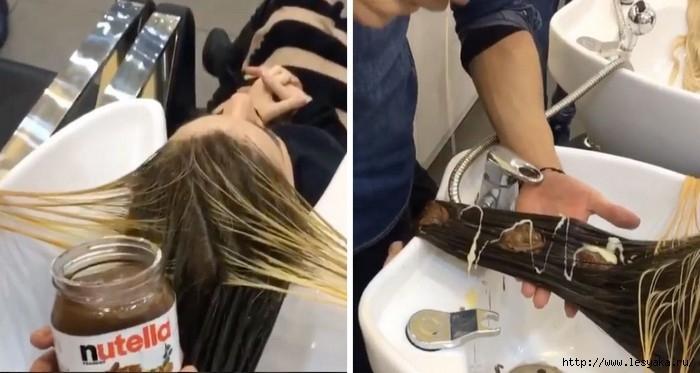 Полчаса для себя. Окрашивание волос...пастой Nutella