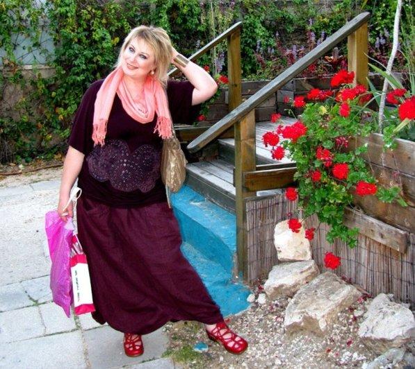 Вязание в стиле бохо для полных женщин 581