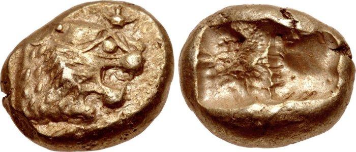 Так выглядели первые в мире монеты./Фото: goldena.ru