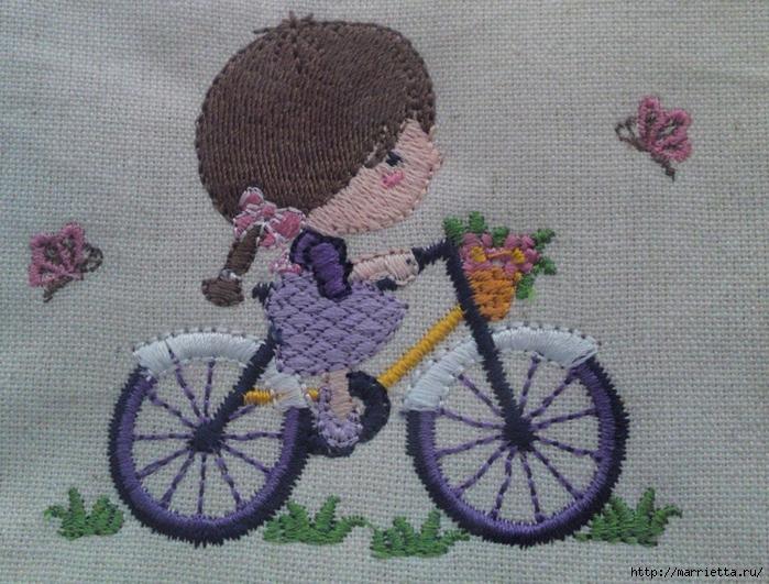 Вышиваем велосипед. Идеи со схемами (37) (700x531, 351Kb)