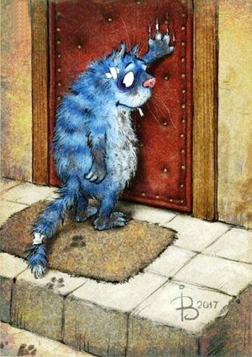 Синие коты счастья — милое и пушистое творчество Ирины Зенюк