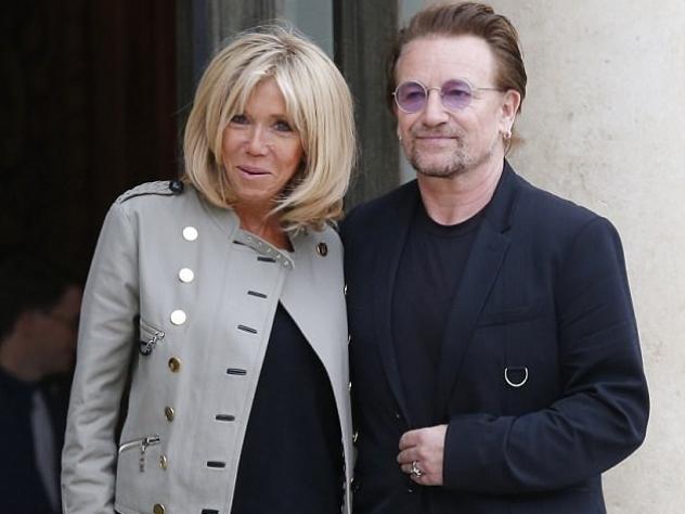Брижит Макрон встретилась с лидером U2 Боно